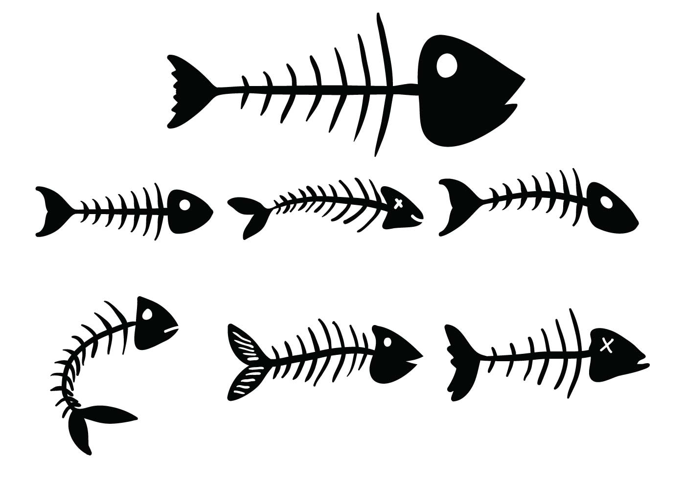 Fishbone Vector Set