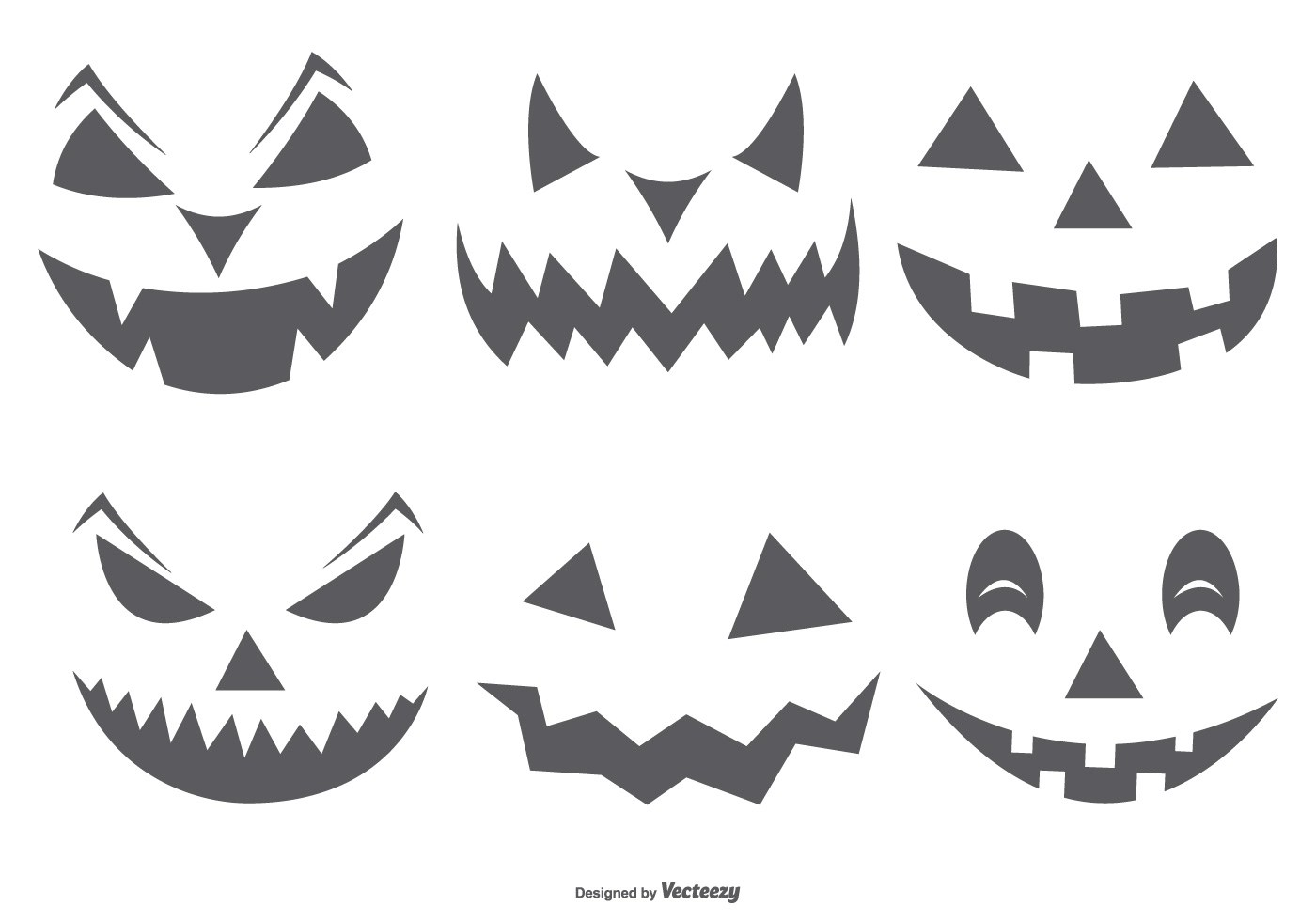 Cute Spooky Halloween Pumpkin Faces
