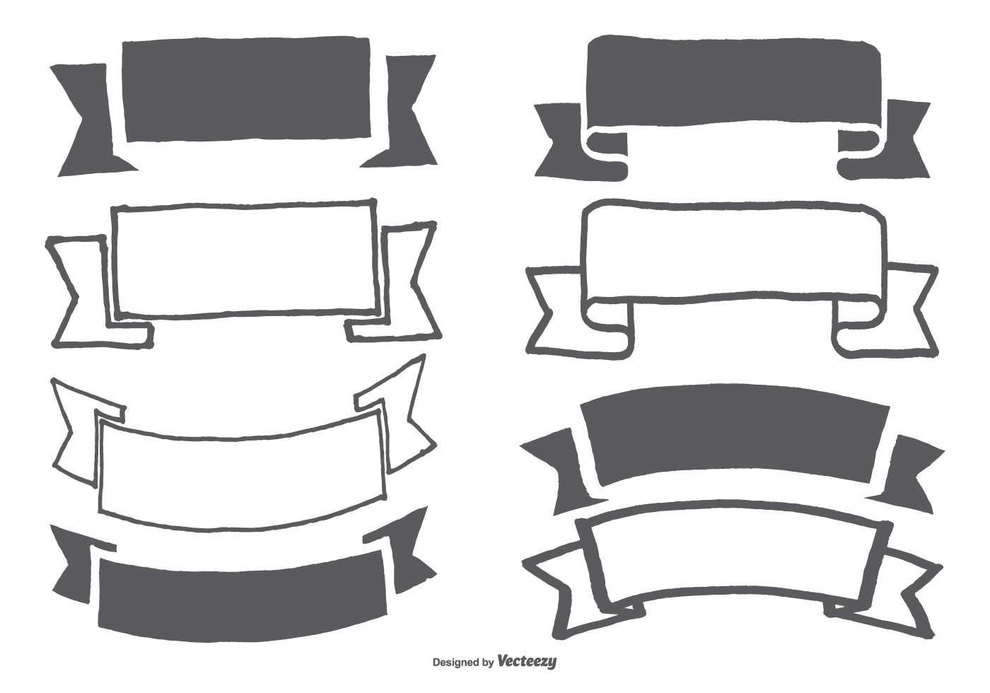 Hand Drawn Banner Ribbon Collection
