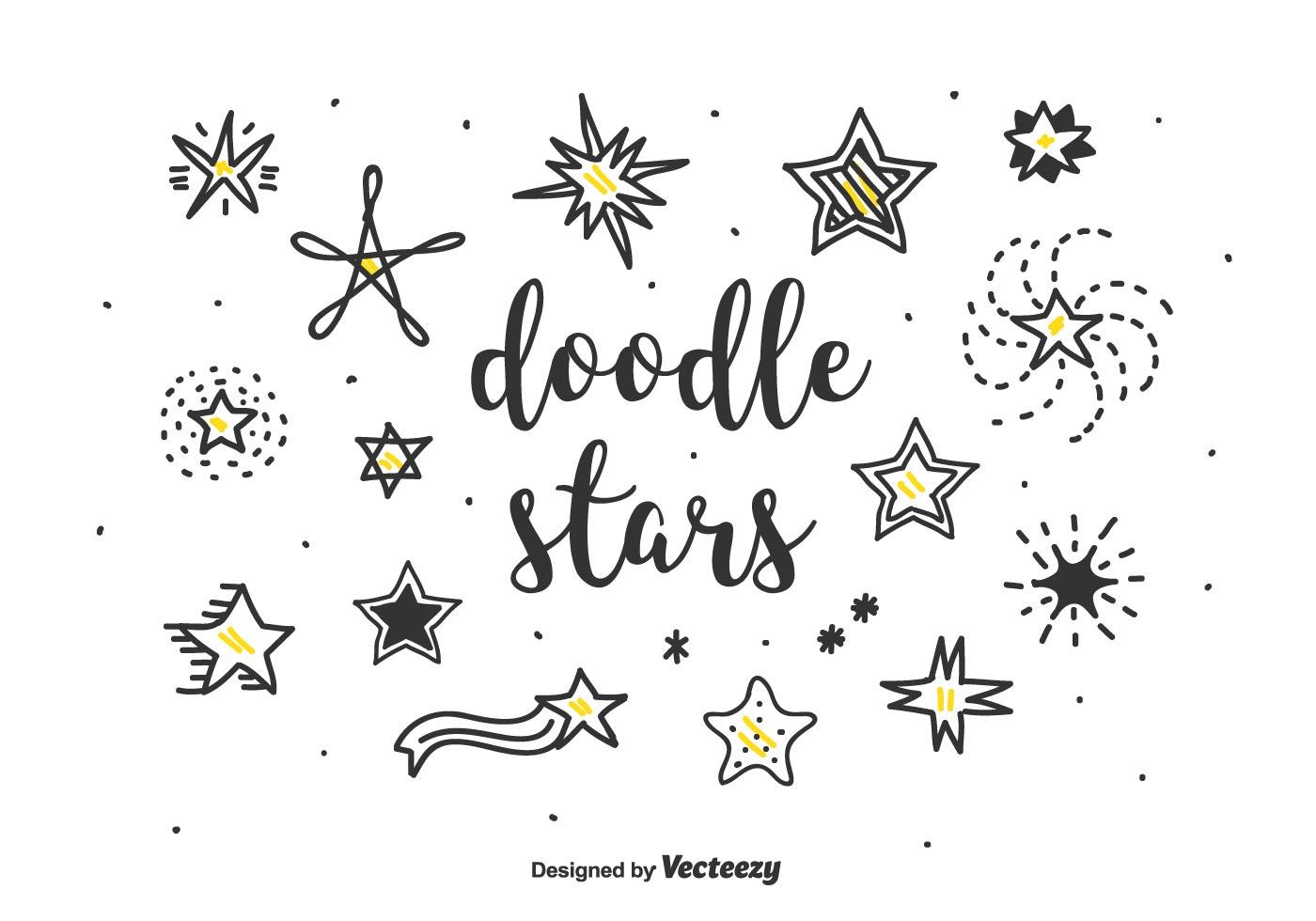 Doodle Stars Vector Set