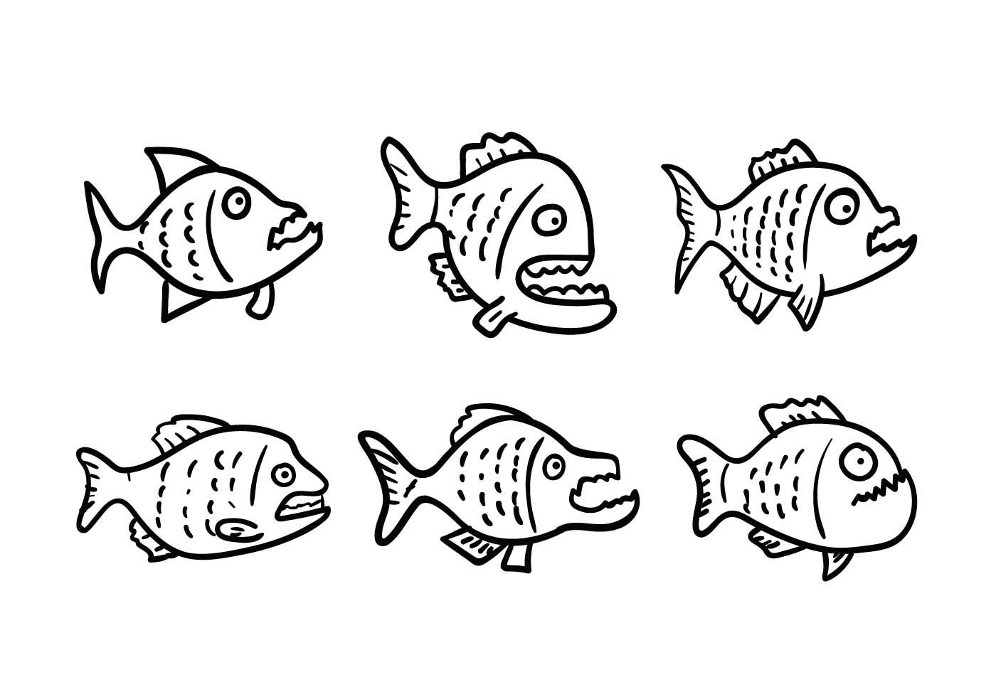 Piranha Vector Set