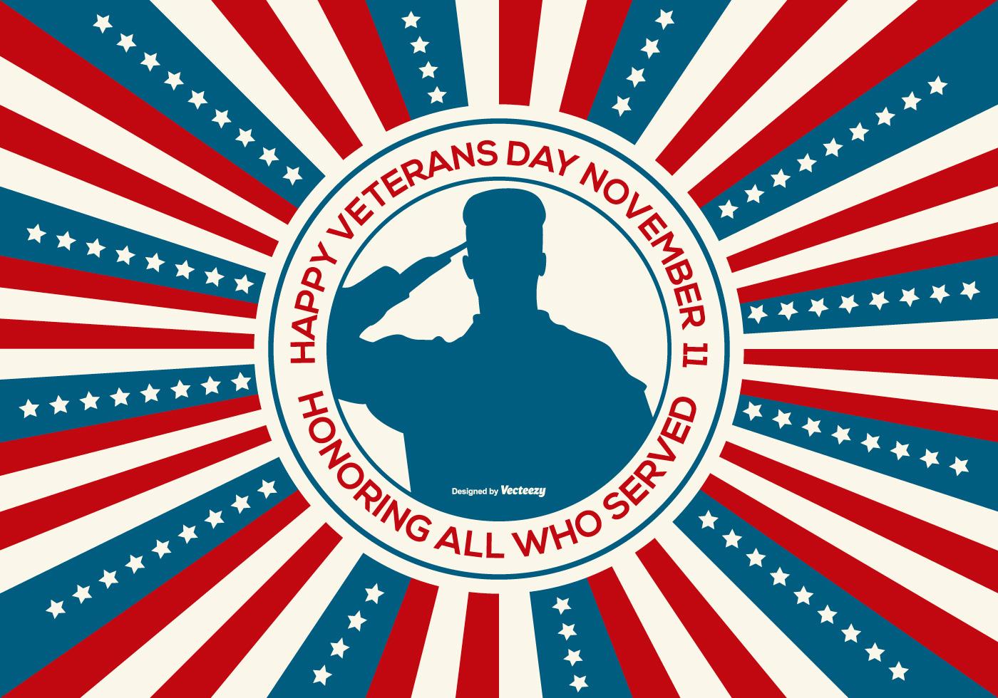 Happy Veterans Day Illustration