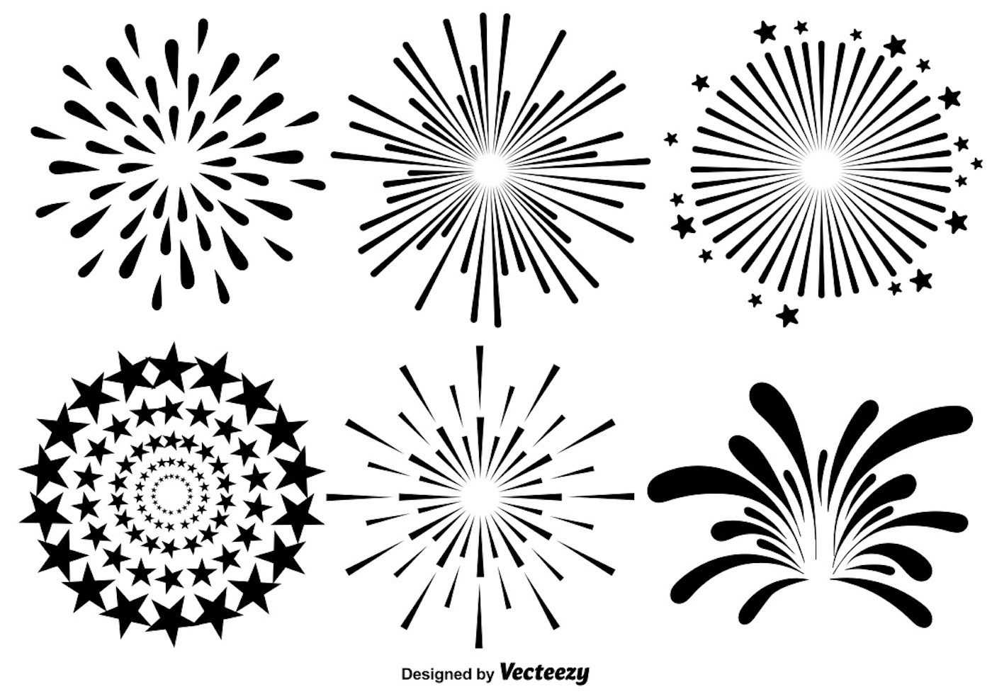 White Draw Black And Easy Fireworks