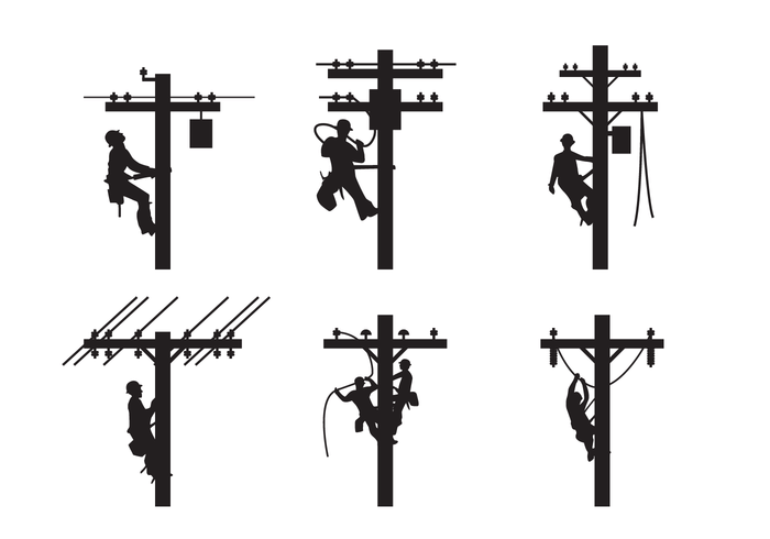 List of Synonyms and Antonyms of the Word: lineman silhouette