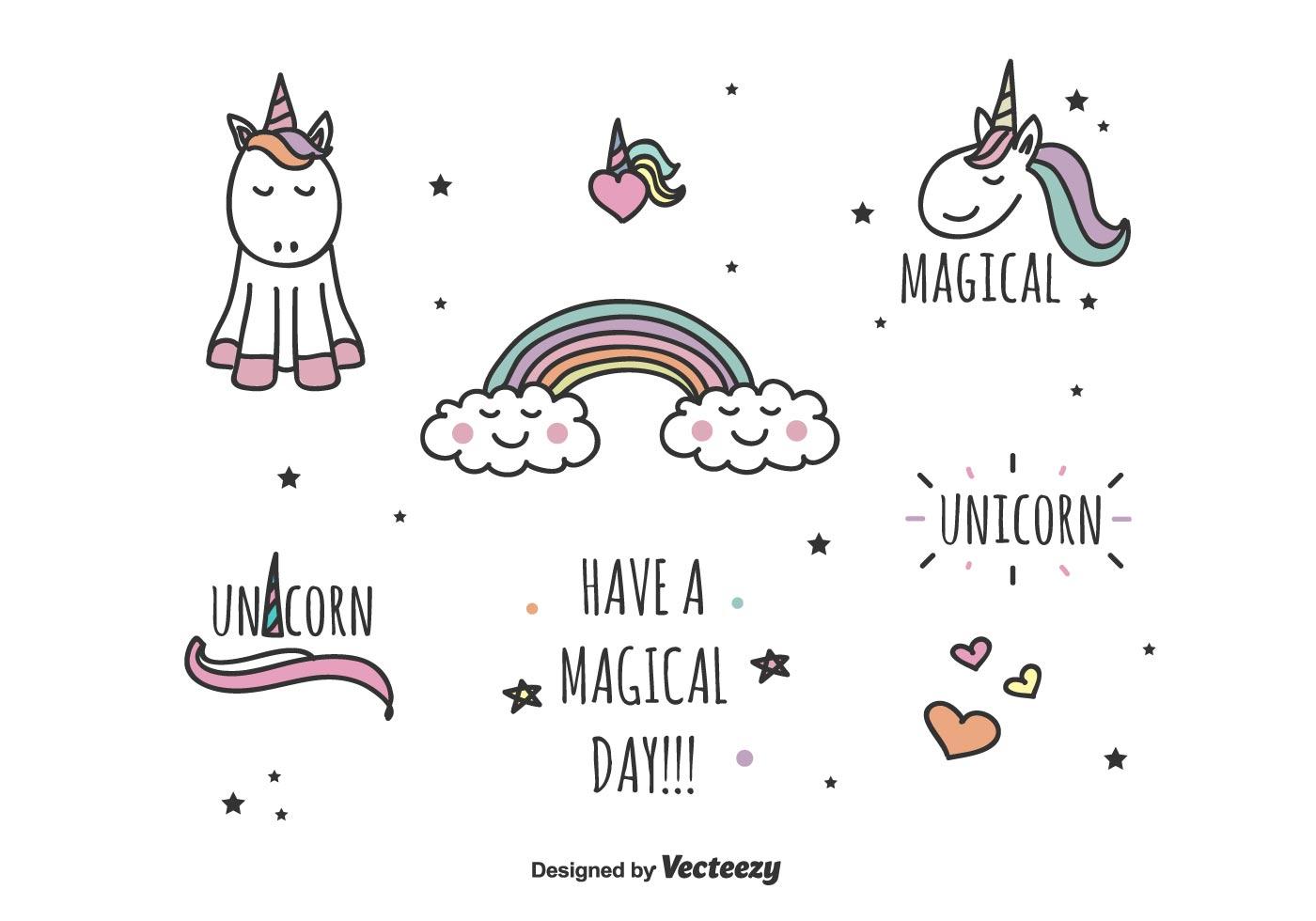 Magical Unicorn Vector Set