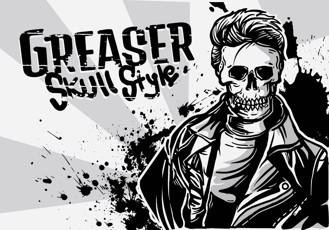 Greaser Boy Illustration Download Free Vector Art Stock