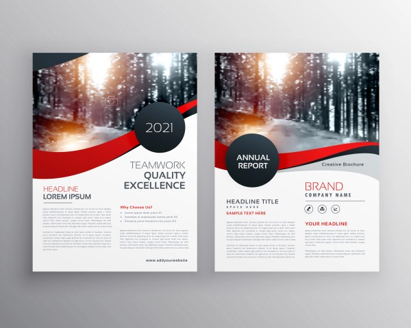 Modern Red Business Flyer Poster Design Template - Free Vector Art Stock Graphics &
