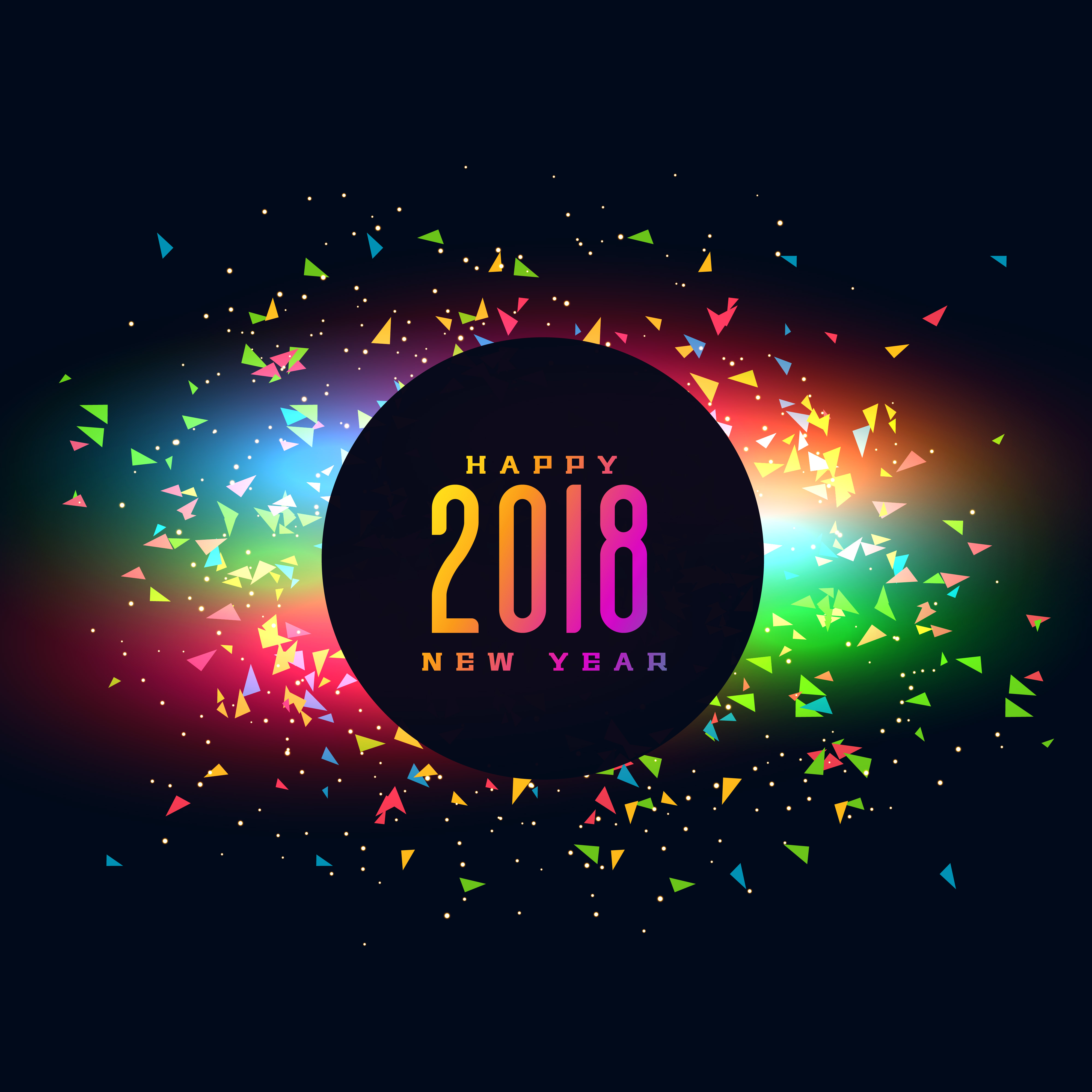 Happy New Year Colroful Party Background Design