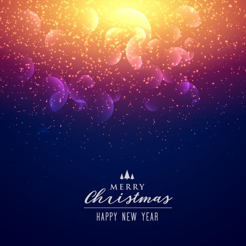 Elegant Sparkles And Light Effect Background For Christmas