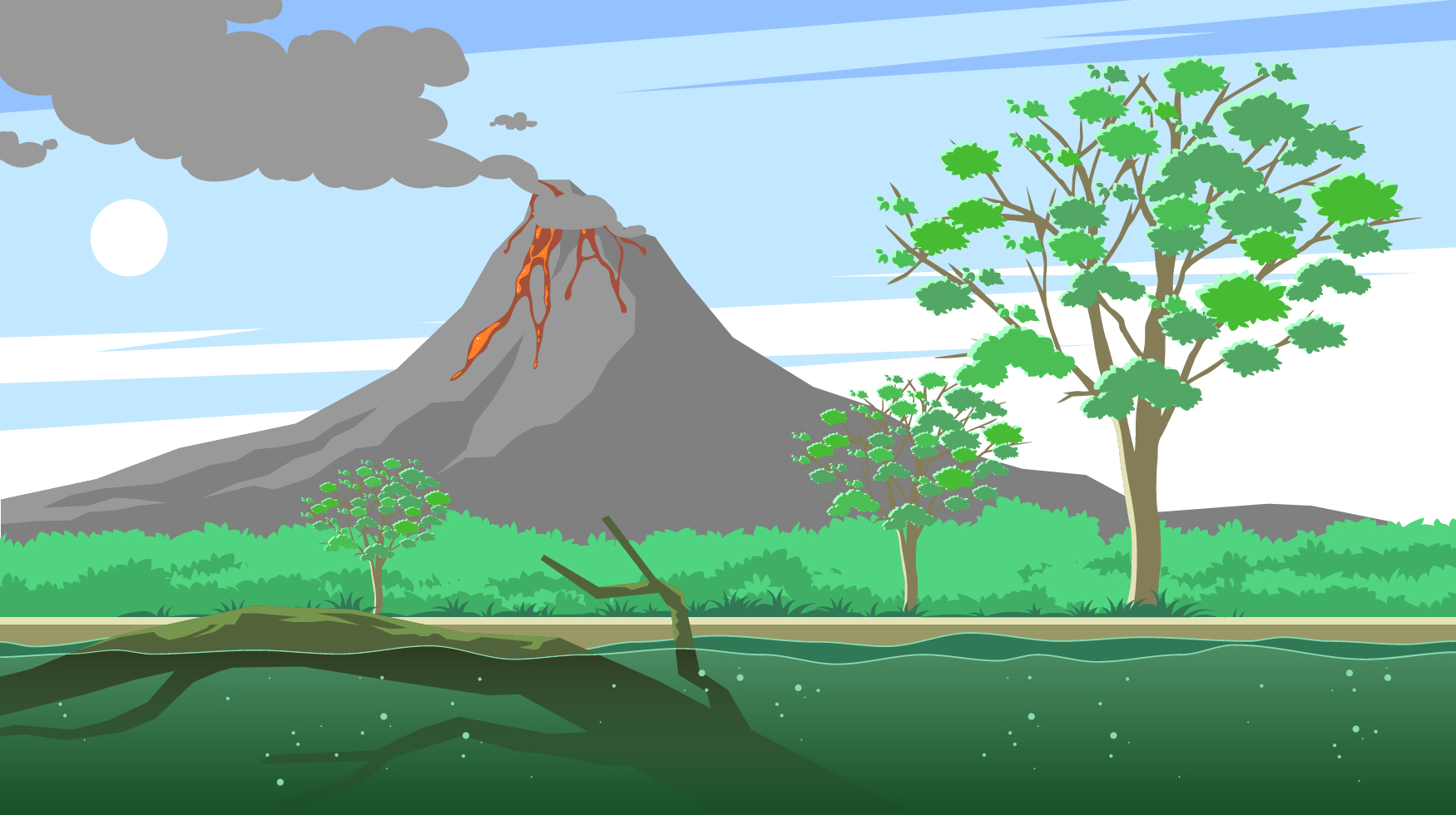 Sleeping Cute Baby Wallpaper Gum Tree And The Volcano Free Vector Download Free