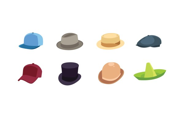 Hat Icon Collection - Free Vector Art Stock