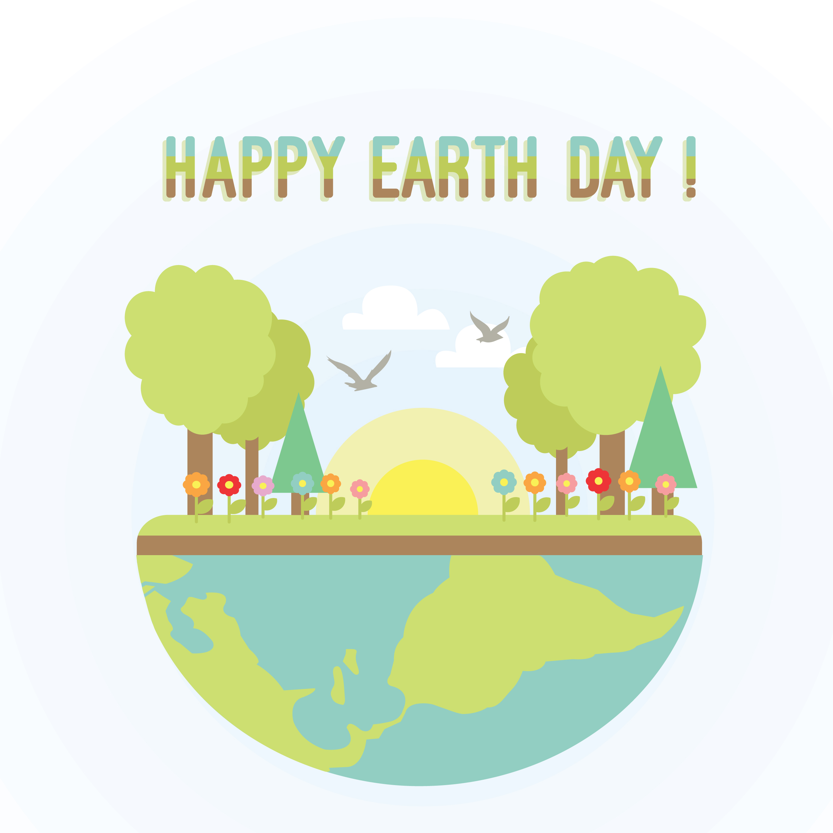Free Happy Earth Day Vector