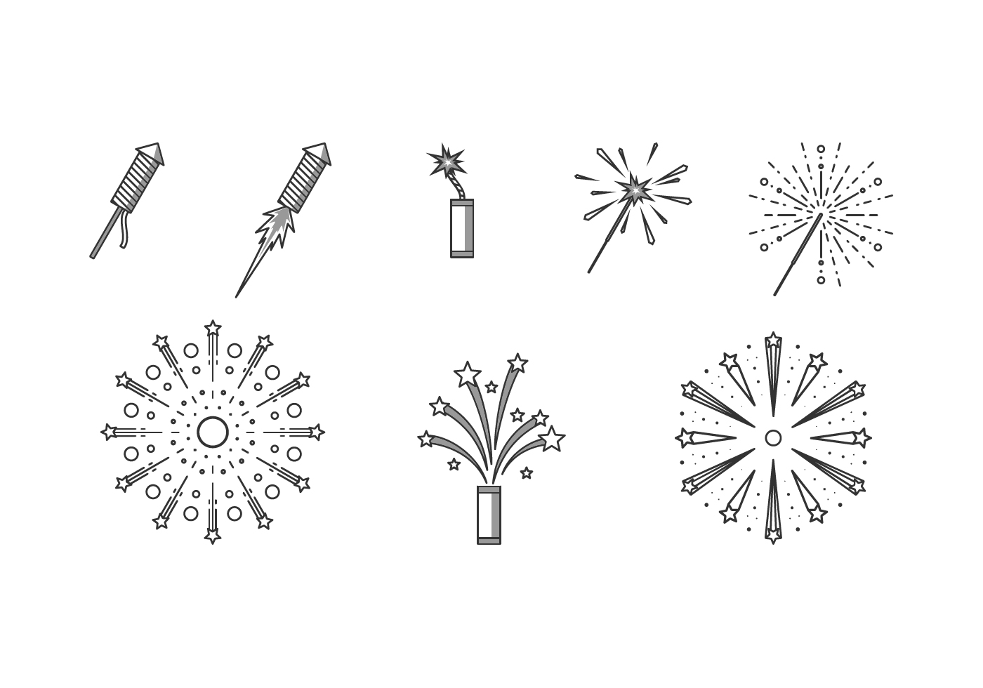 Line Icon Fireworks Free Vector