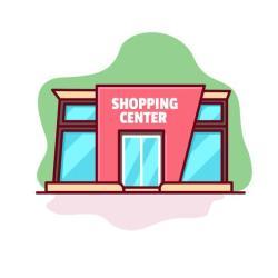 shopping vector center clipart flat edit graphics vecteezy