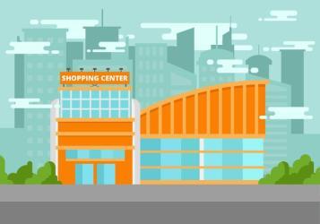 shopping vector center illustration clipart edit graphics
