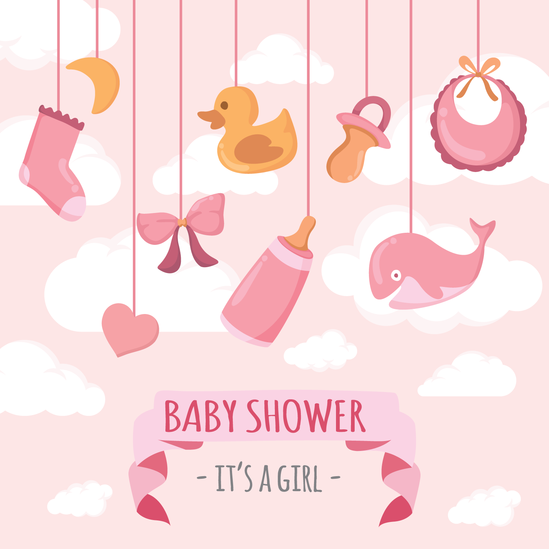Cute Elephant Design Wallpaper Babyshower Vector Illustration Download Free Vectors