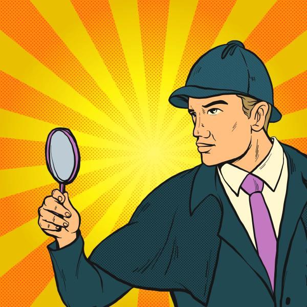 Detective Clues Pop Art Illustration