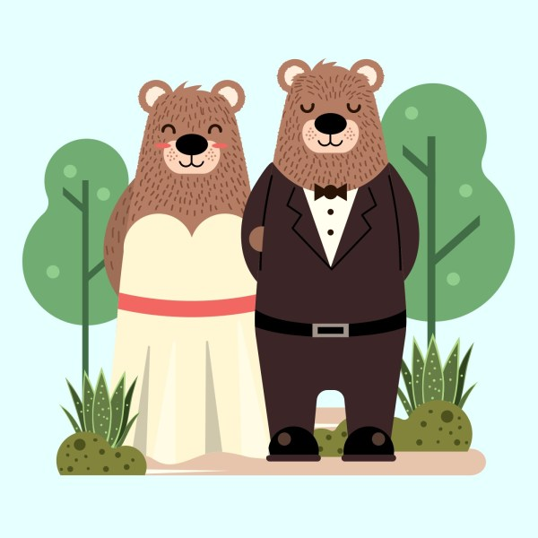 Bears In Love - Free Vector Art Stock Graphics