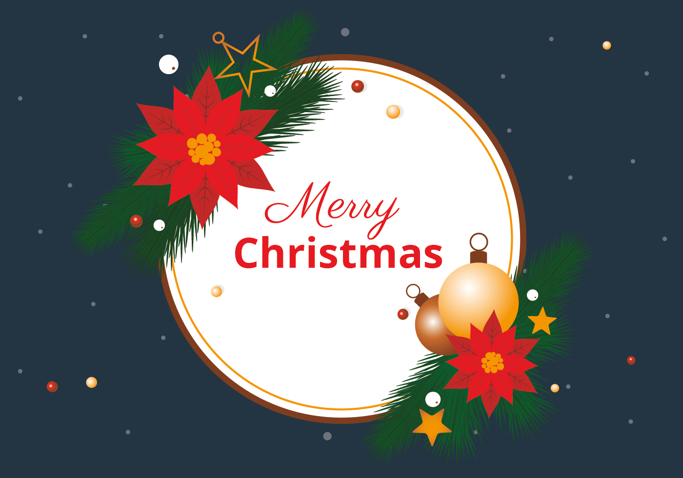 Free Christmas Elements Background Vector Download Free