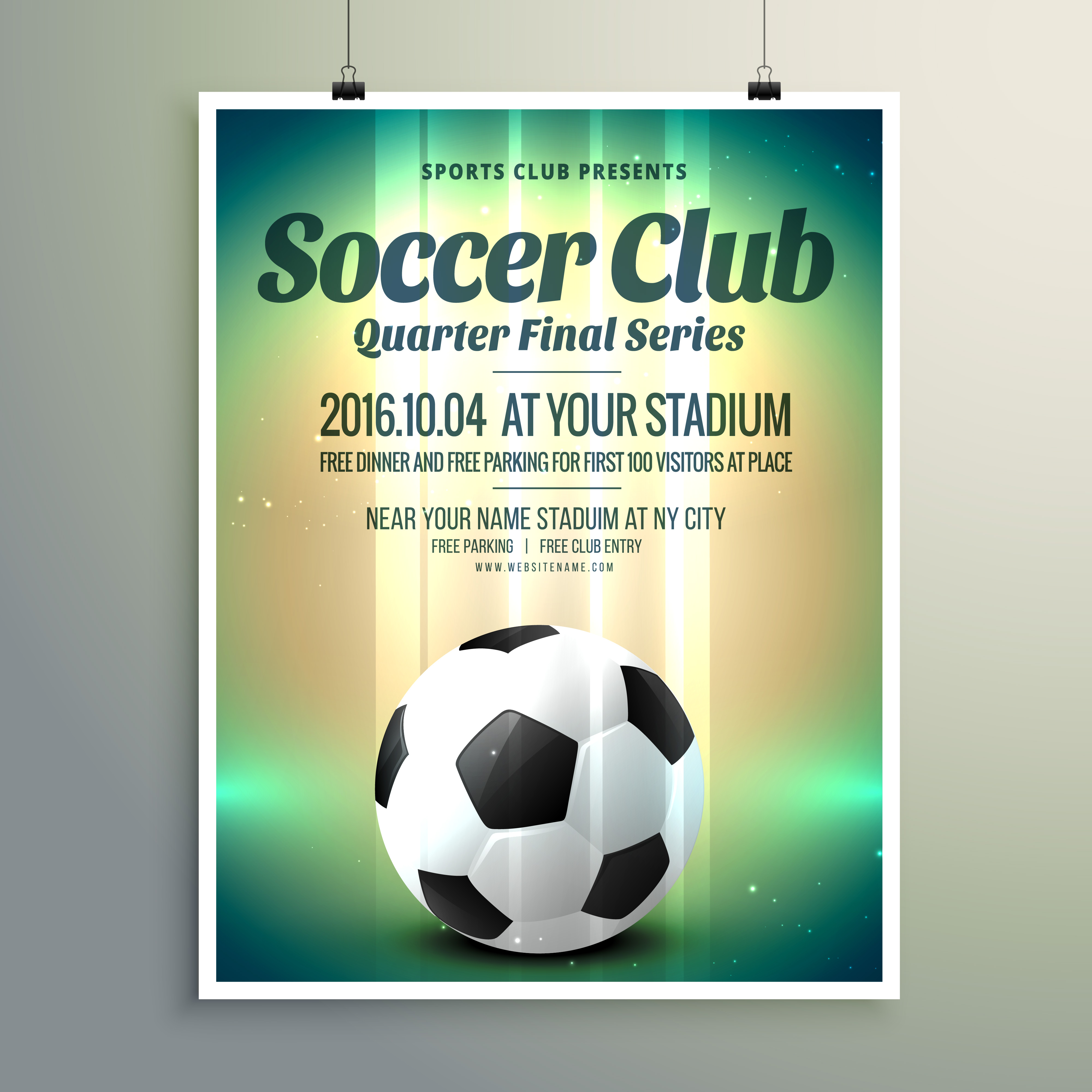 Soccer Cup Final Series Flyer Template - Download Free Vector Art, Stock  Graphics & Images