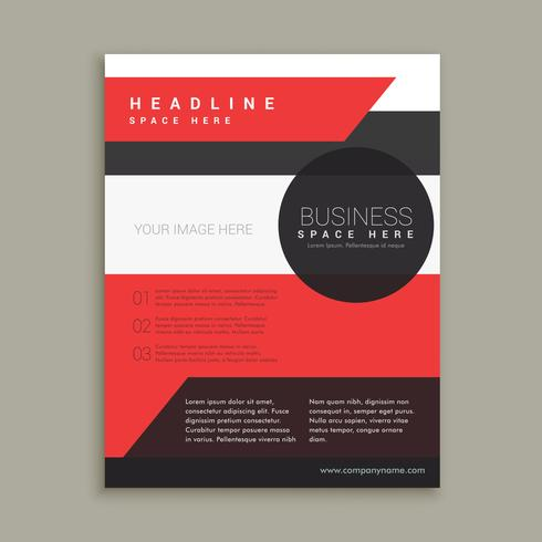 Company Business Brochure Template In Red Black And White Colors Download Free Vector Art
