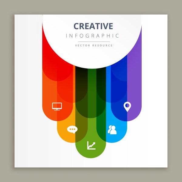 Infographic Icons Creative Design - Free Vector