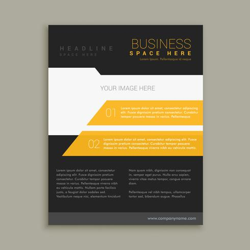 yellow and black business brochure flyer poster template