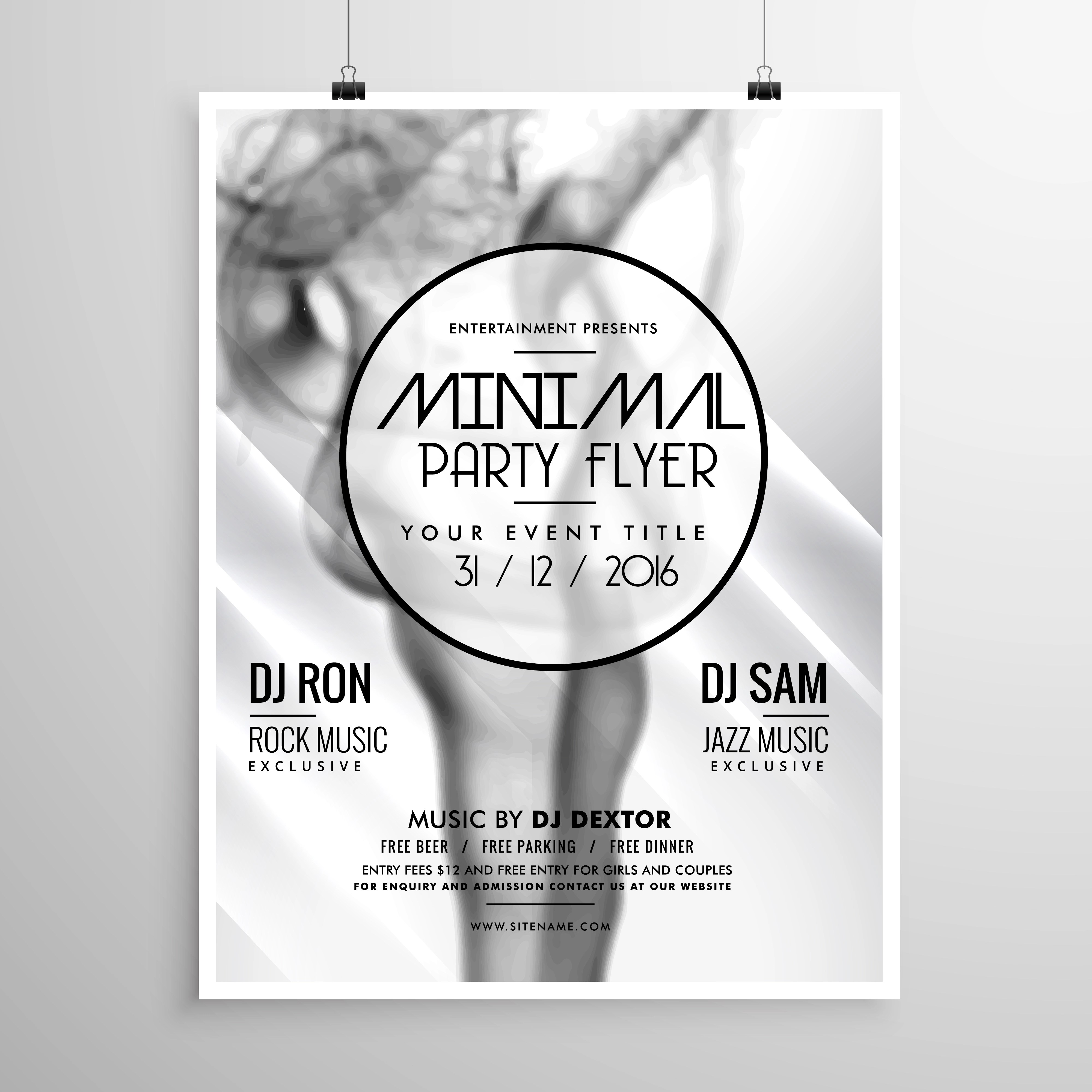 Abstract Party Flyer Template With Smoke Background - Download Free Vector  Art, Stock Graphics & Images