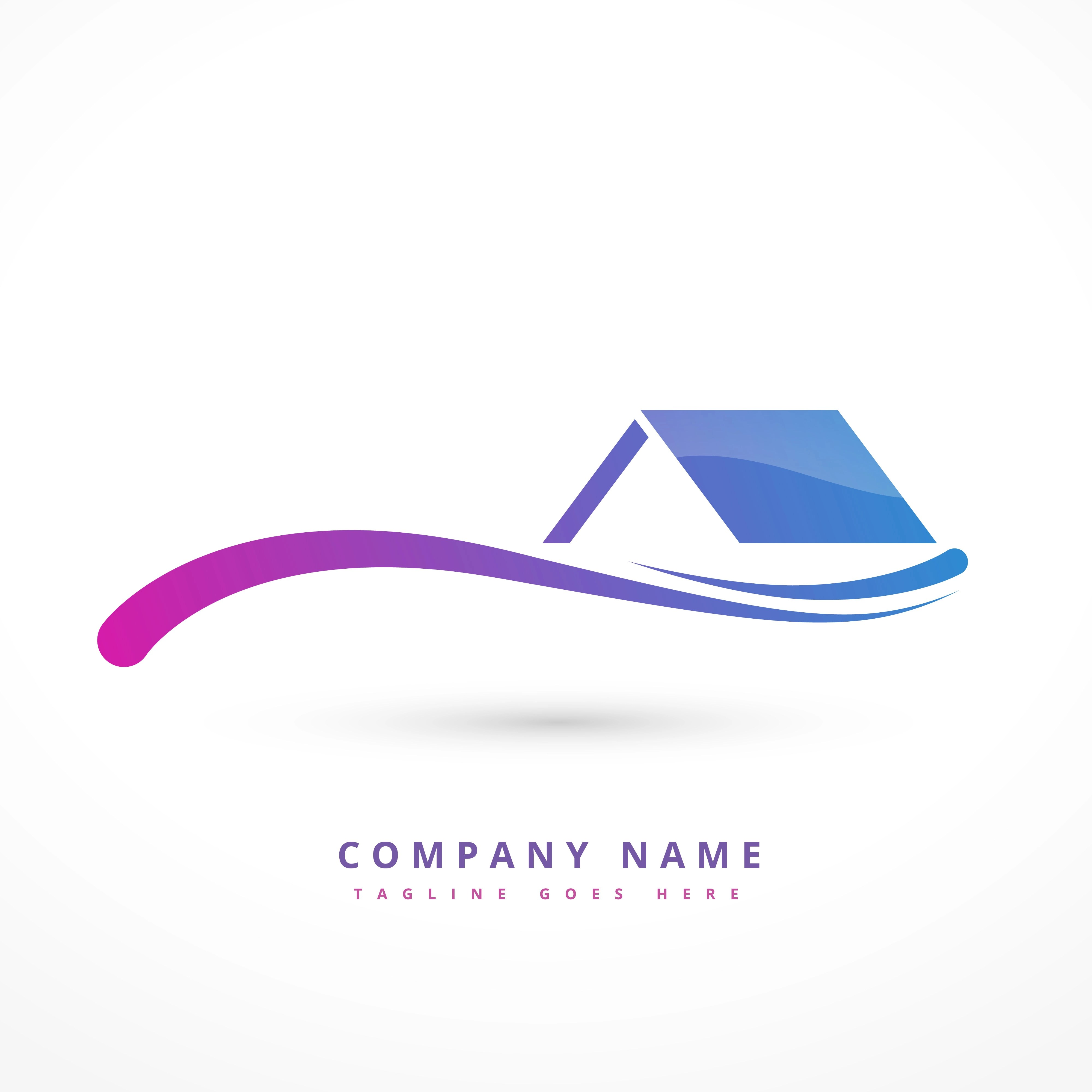 house or home company logo design illustration  Download Free Vector Art Stock Graphics  Images