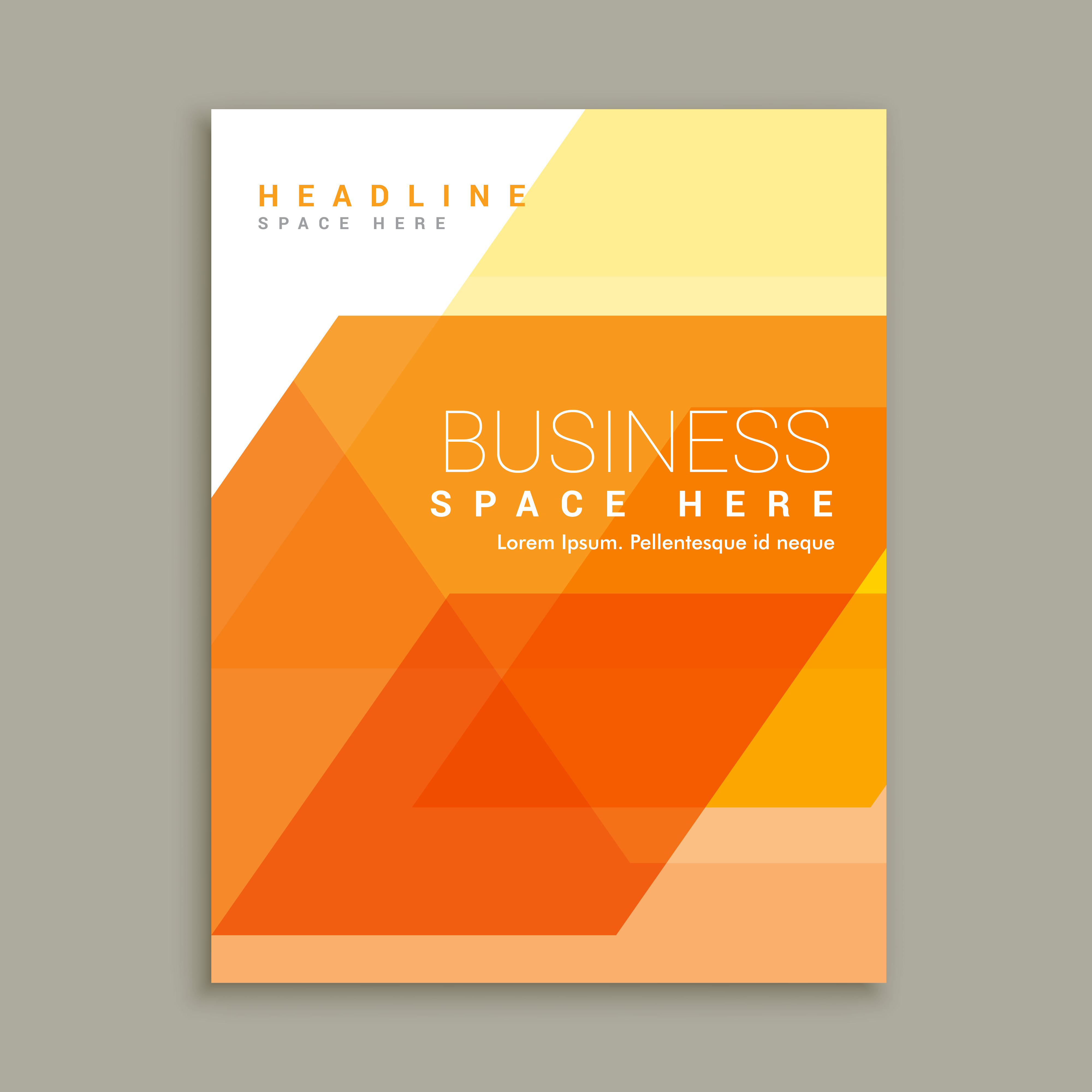 Orange Business Magazine Brochure Template Download Free