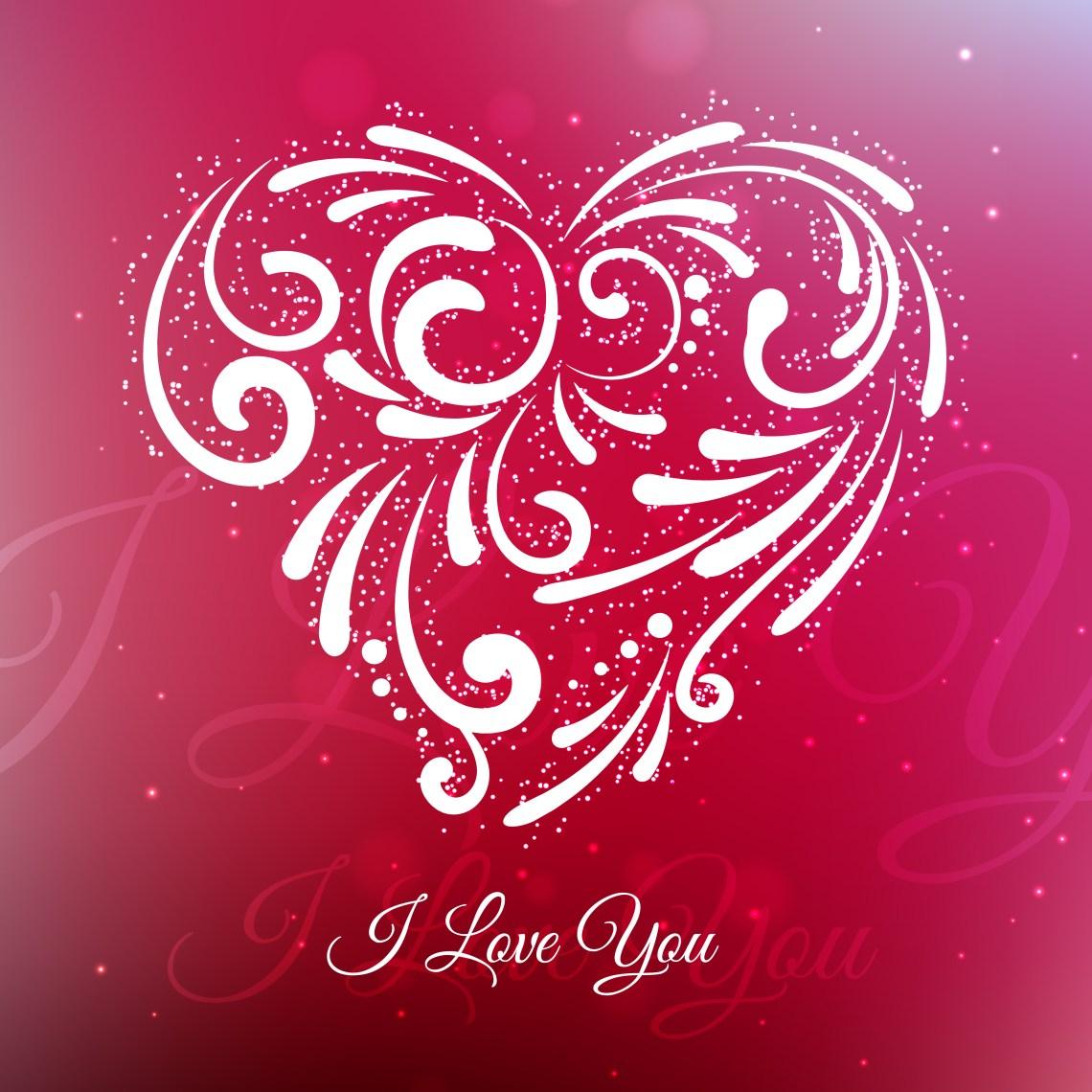Download creative love heart background vector design illustration ...