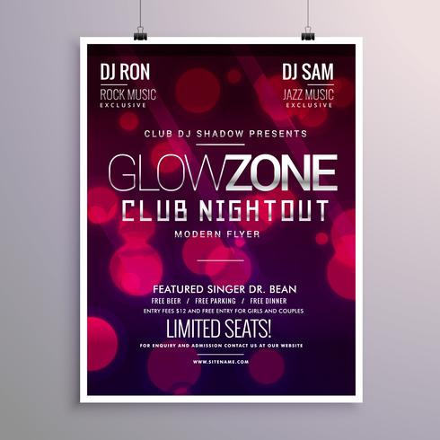 Beautiful Event Flyer Design With Bokeh Background
