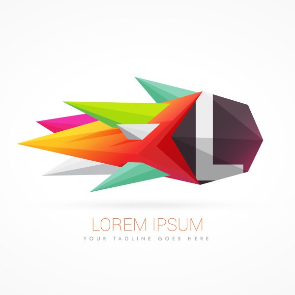 Colorful Abstract Logo With Letter L - Free