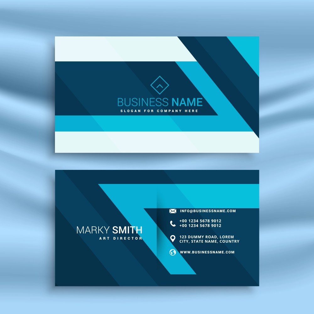 medium resolution of download free card amp template images art graphics blue business id abstract vector stock