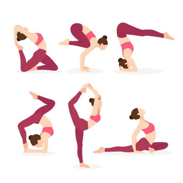 Yoga Instructor Exercising Poses