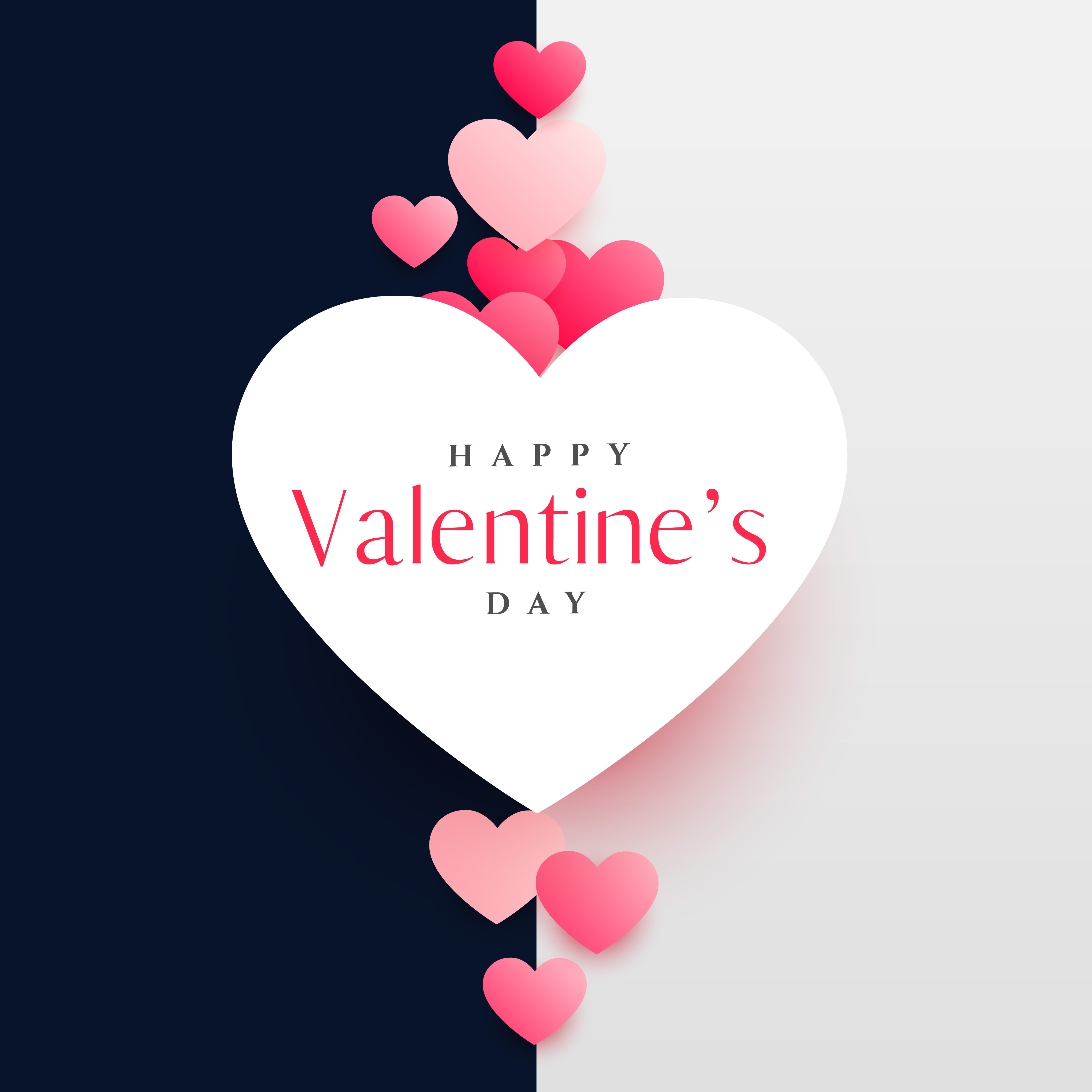 Modern Happy Valentine S Day Greeting Card Design Template