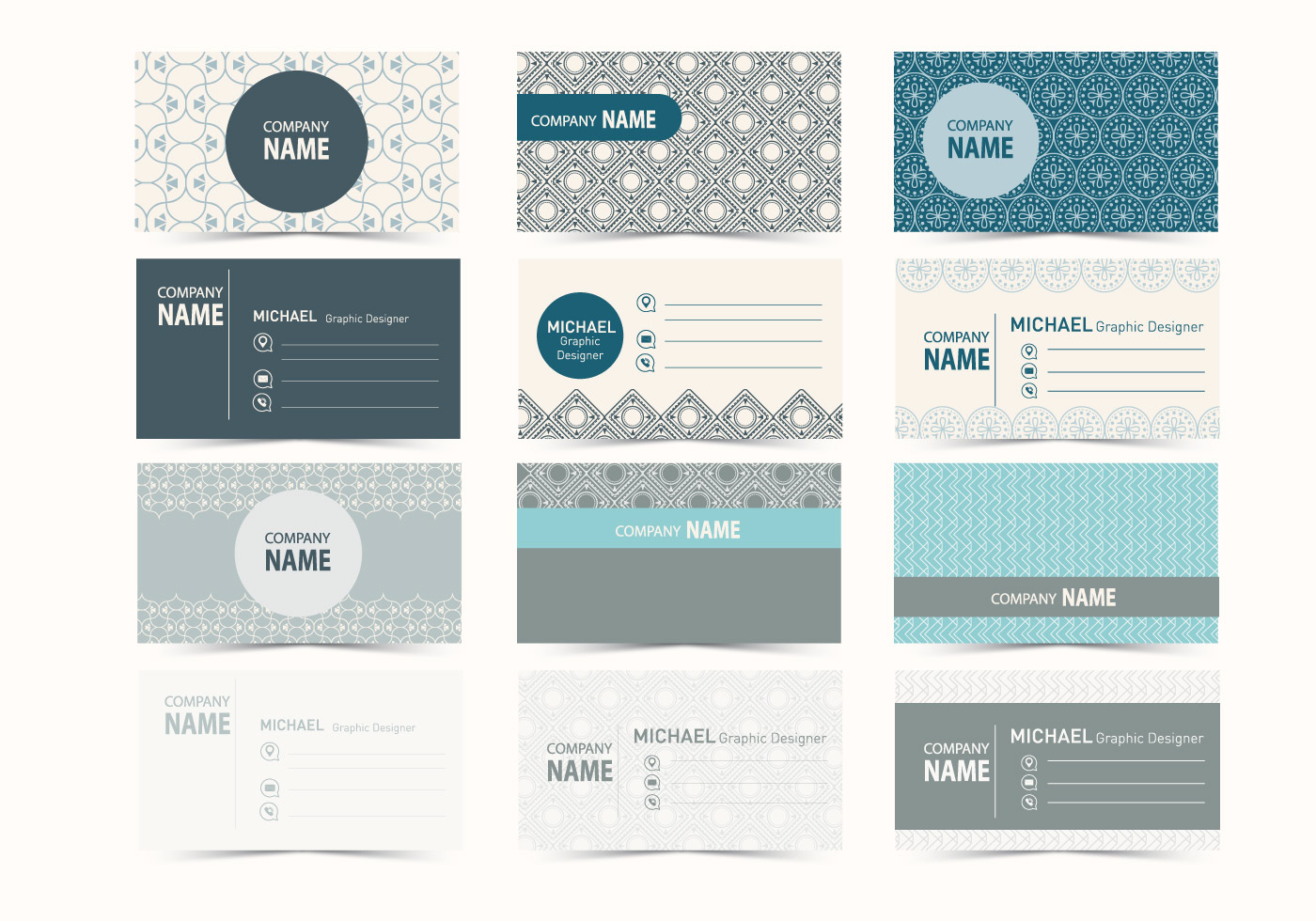 Graphic Design Business Card Vector  Download Free Vector