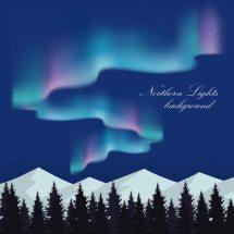 Northern Lights Landscape Illustration - Free