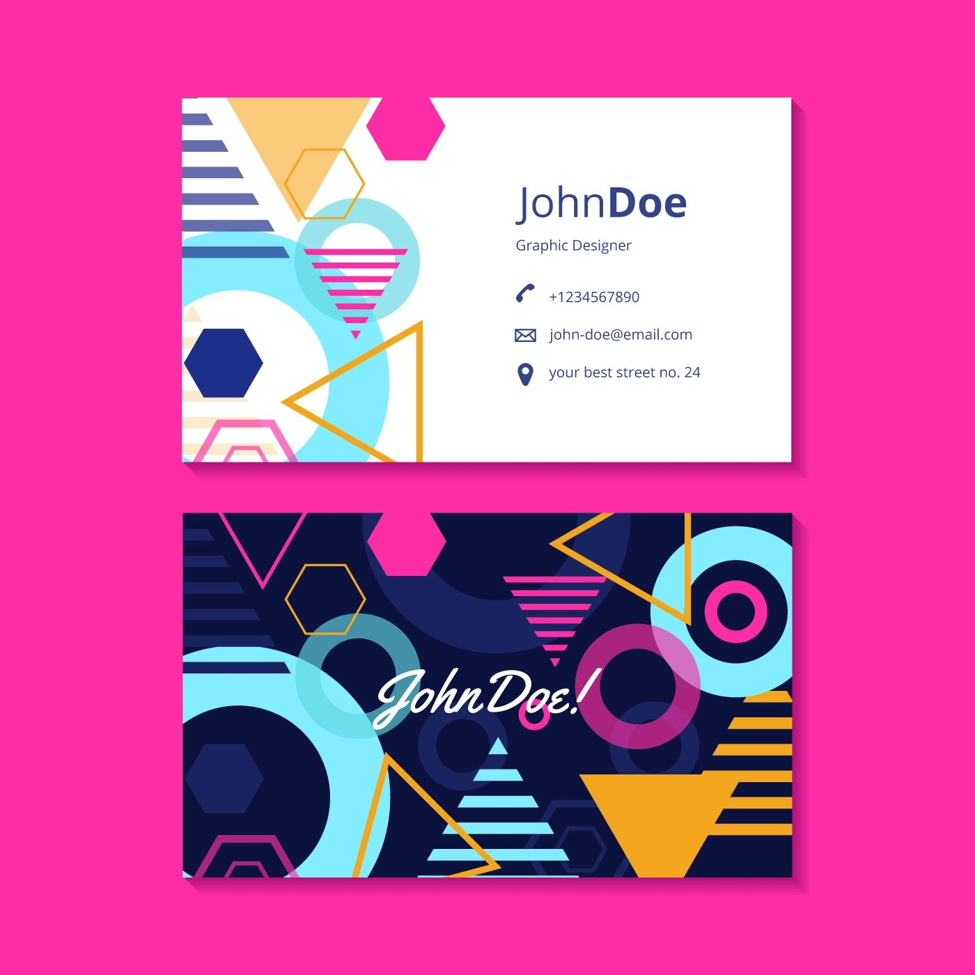 Graphic Design Business Card Template  Download Free