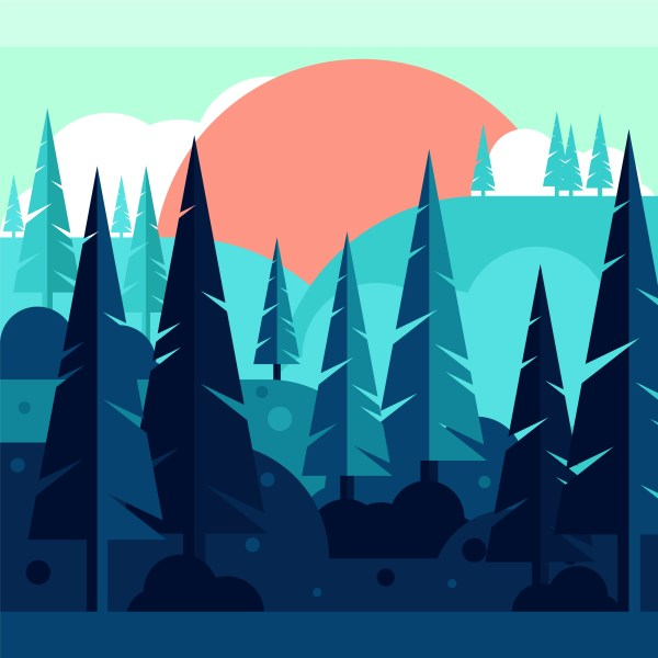 Forest Illustration Vector Art