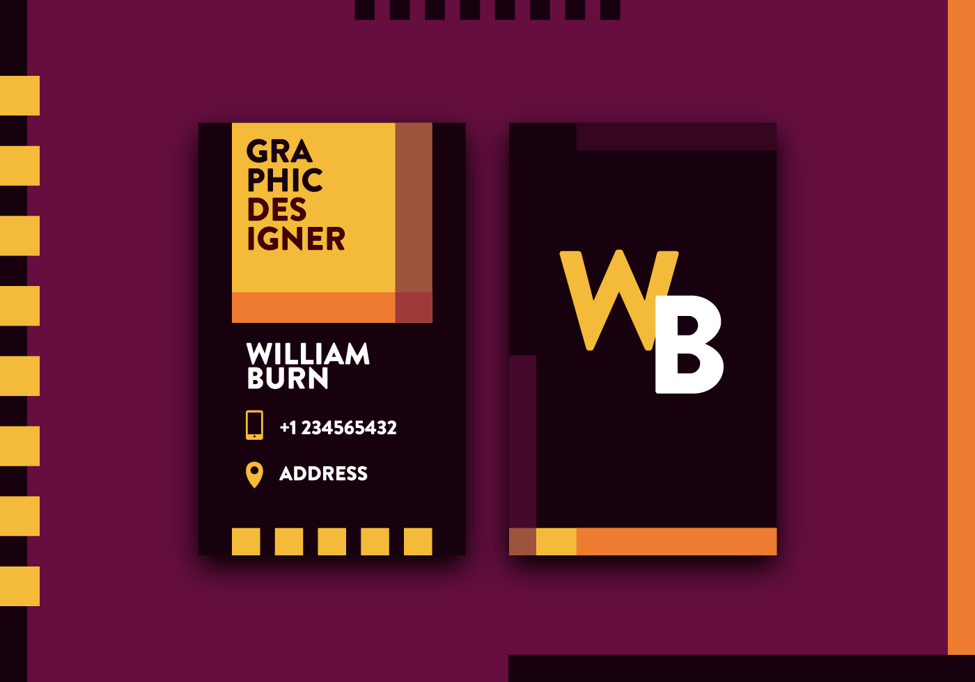 Graphic Designer Business Card Vector  Download Free