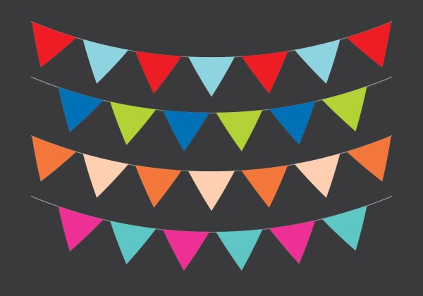 Vector Party Flags