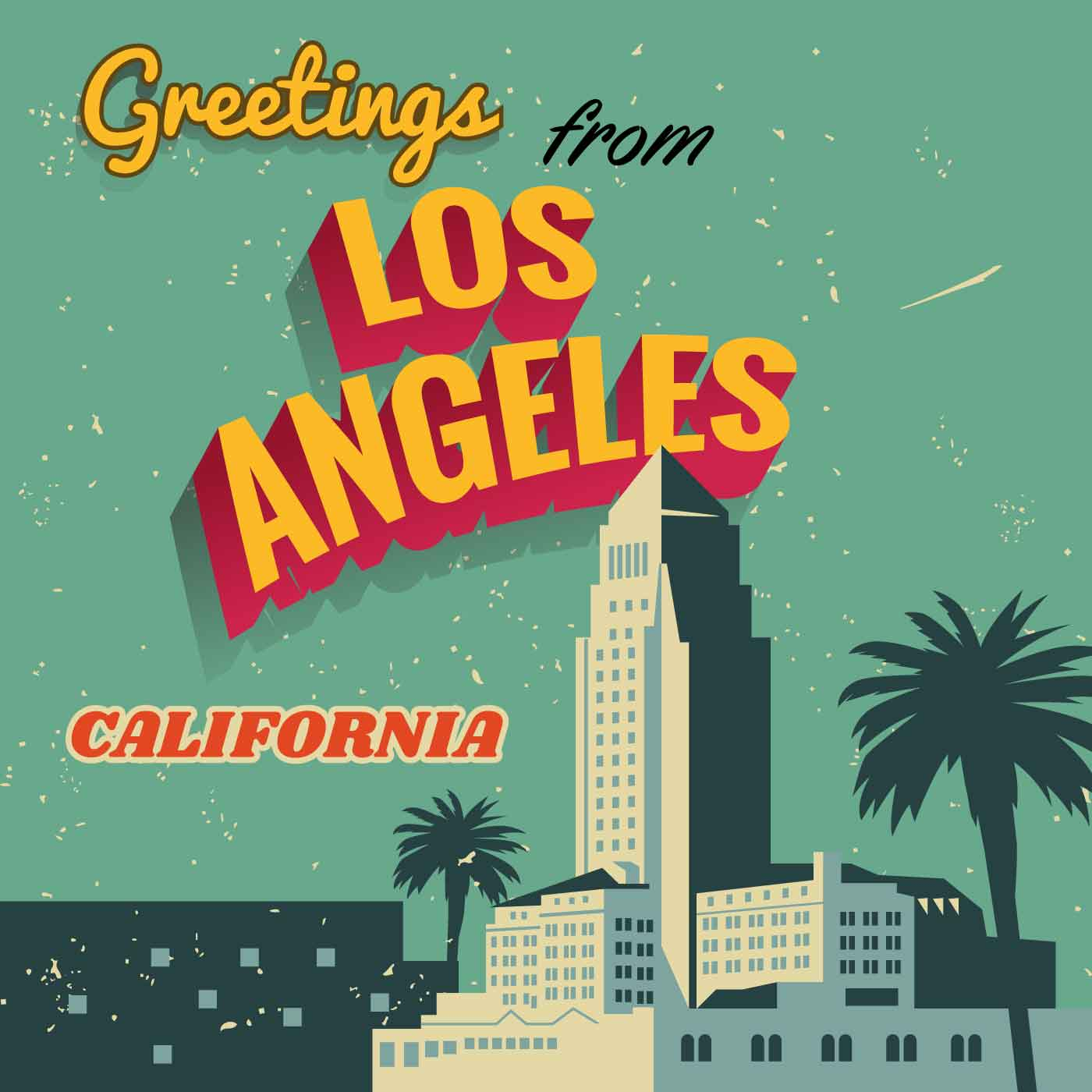Greetings from california poster m4hsunfo