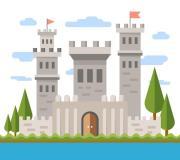 flat castle design - free