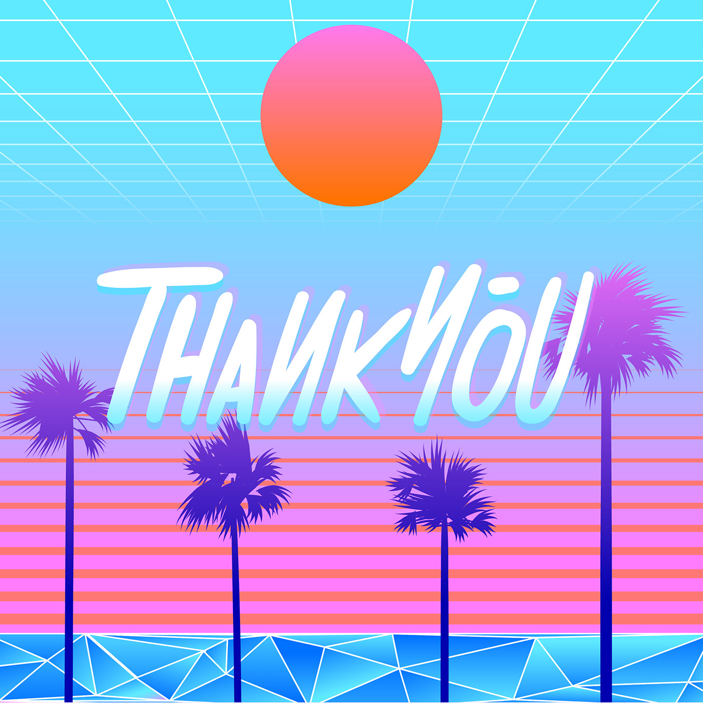 Fall Vibes Wallpaper Thank You Typography Beach Vaporwave Vector Download
