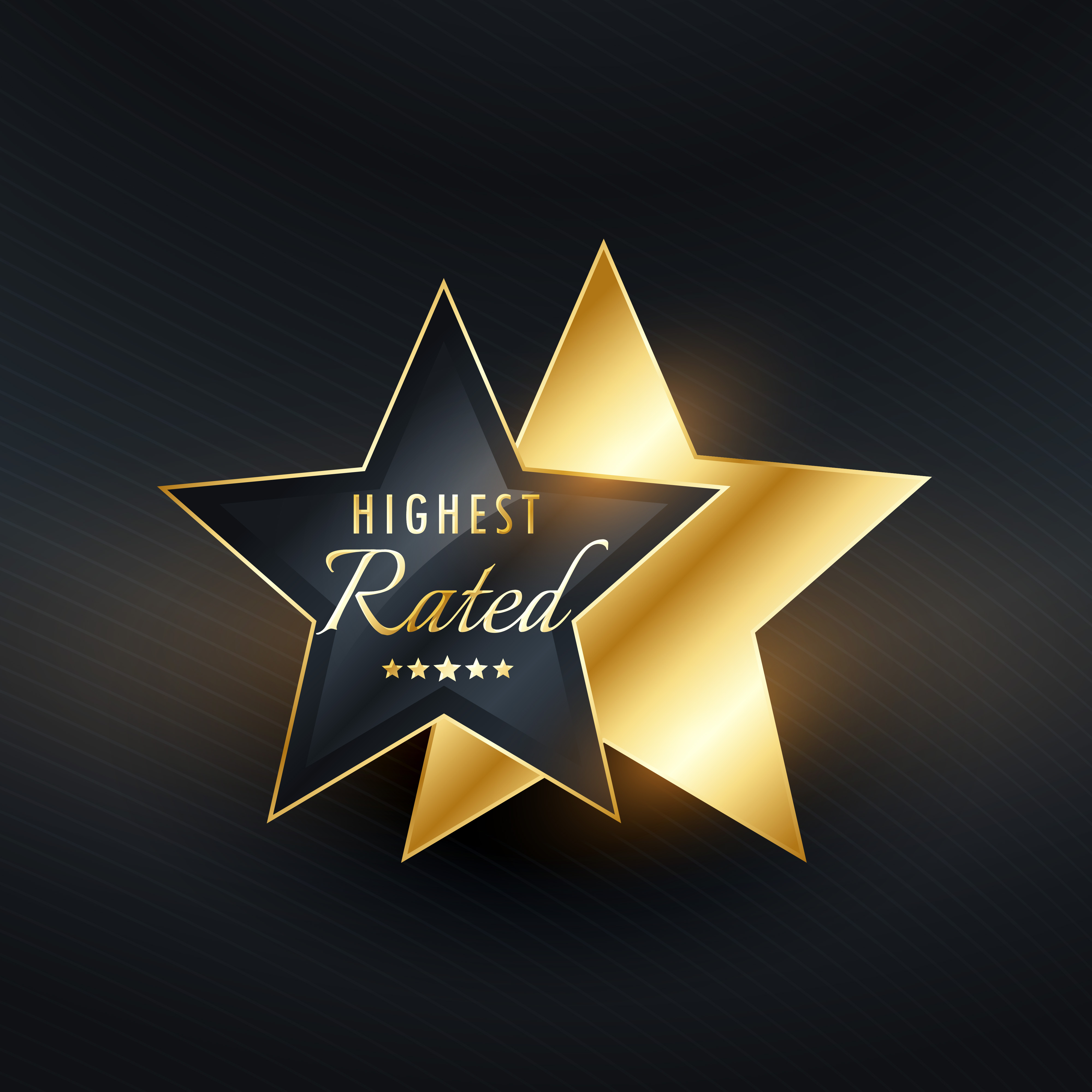 Highest Rated Star Label Vector