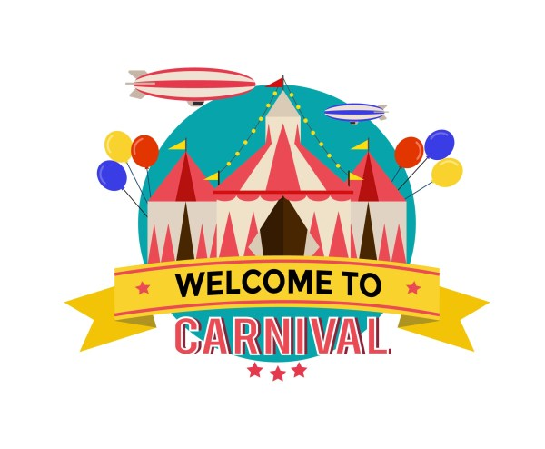 Carnival Poster Template Vector - Free Art Stock Graphics &
