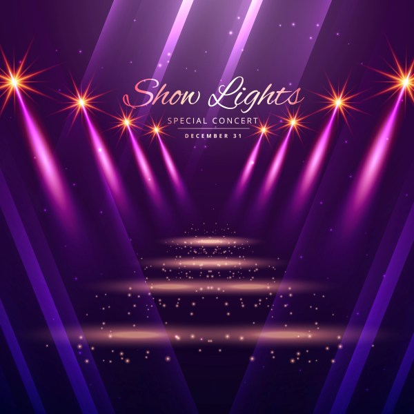 Show Lights Enterance Background - Free Vector