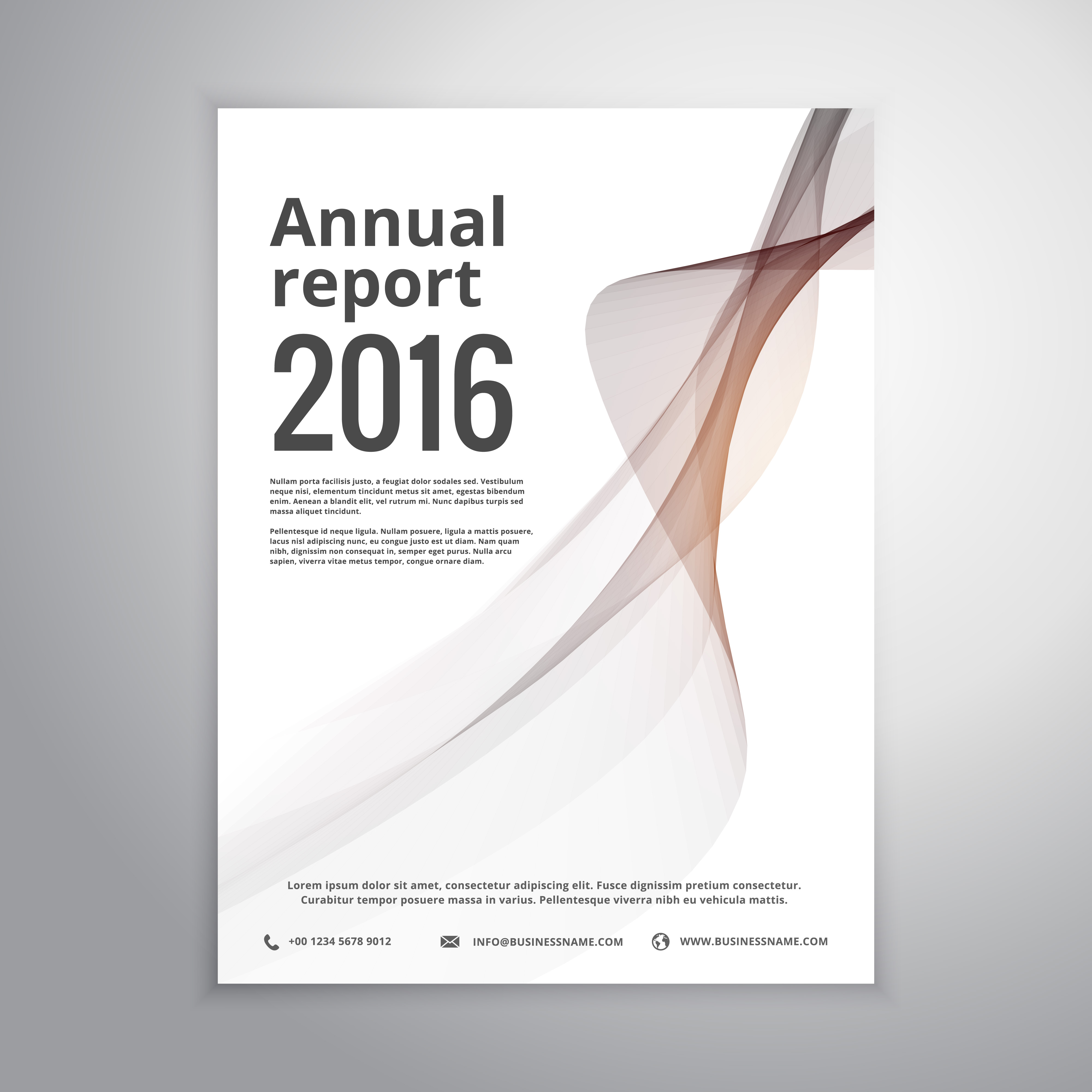 Corporate Annual Report Brochure Identity Template With Gray Wav Download Free Vector Art