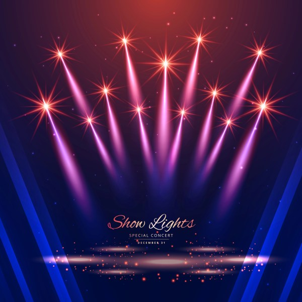 Beautiful Show Lights Background - Free Vector